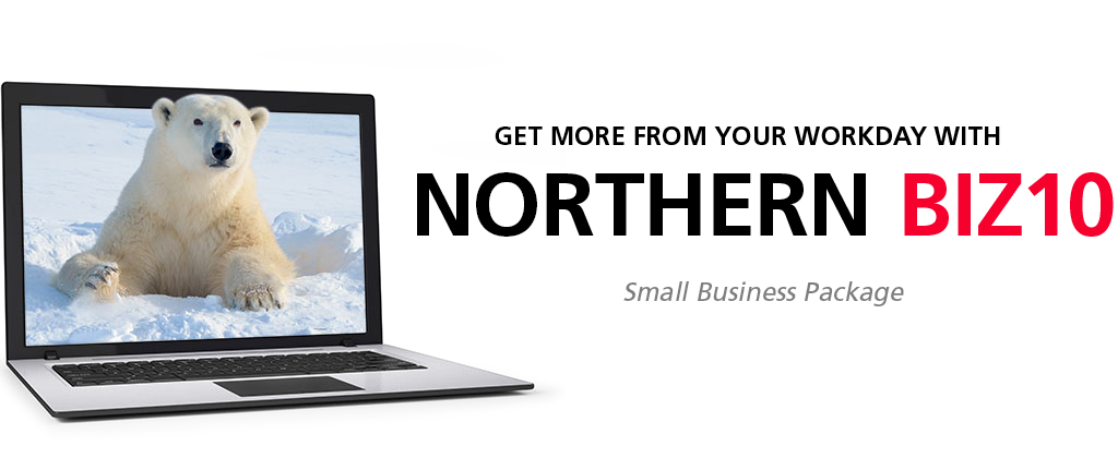 Get more from your workday with Northern BIZ10 Small Business Package